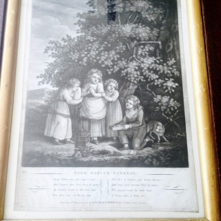 C18th Poor Robin's Funeral Print..