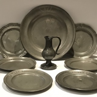 Collection of C19th Pewter