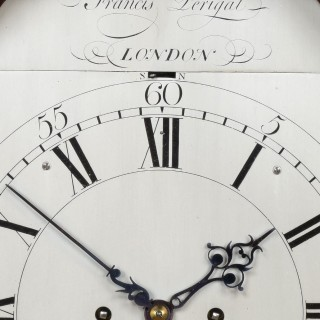 FRANCIS PERIGAL. A FINE GEORGE III PERIOD HOODED WALL CLOCK BY THIS EMINENT LONDON MAKER.