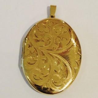 Large Gold Locket.