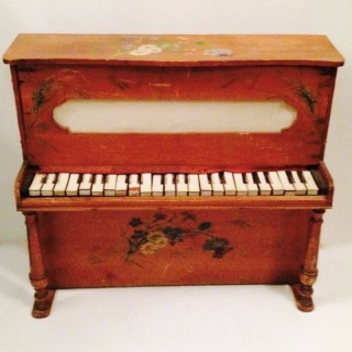 Late Victorian Miniature Piano.