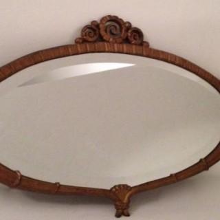 Bronze Art Deco Mirror.