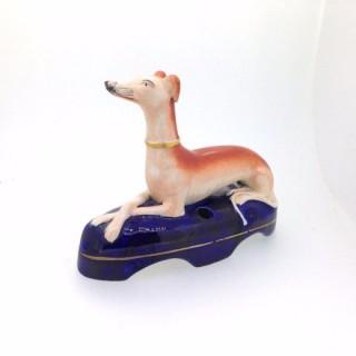 Antique Pottery Greyhound.