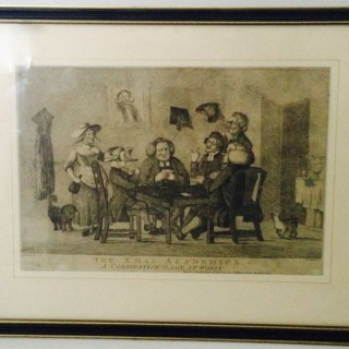 Antique Print The X.mas Academics.