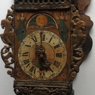 Antique Dutch Frisian Wall Clock, Little Skipper.