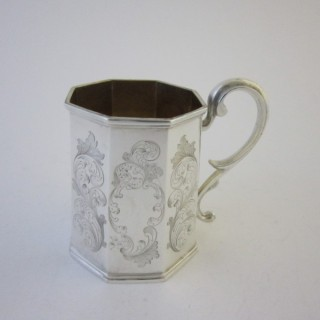 Scottish Antique Sterling silver Christening mug
