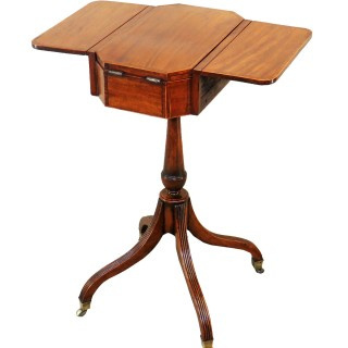 Georgian Mahogany 18th Century Occasional Work Table