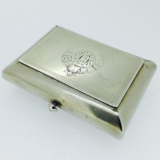 Antique Packtong Tobacco /Snuff Box.