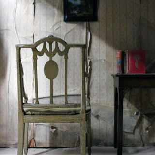 A George III Period Painted Open Armchair; Attributed to Gillows c.1790-95