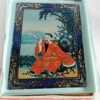 C18th Painted Chinese Panel.