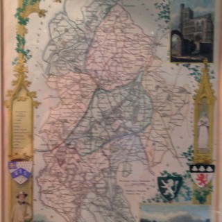 Antique Map of Bedfordshire.