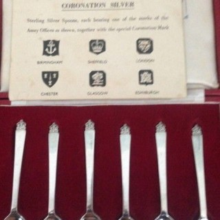 Antique Coronation Six British Hallmark Spoons