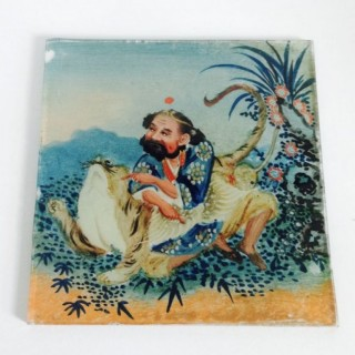 C19th Painted Chinese Panel.
