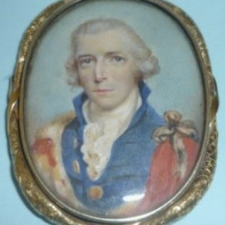 Miniature on Ivory of an Aristocrat.