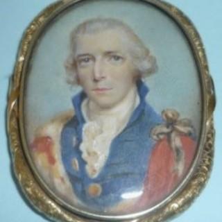 Miniature on Ivory of an Aristocrat.
