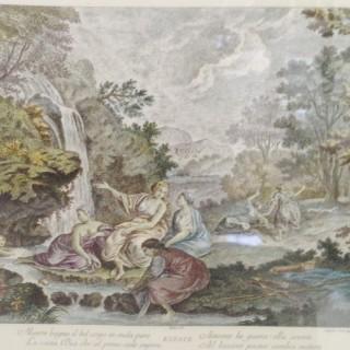 Set of Four Seasons on Silk.