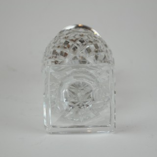 Cut Glass and silver Sugar Castor