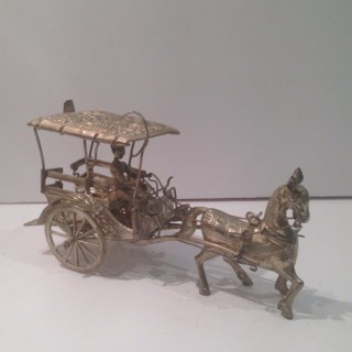 Antique Silver Plated Indian Carriage.