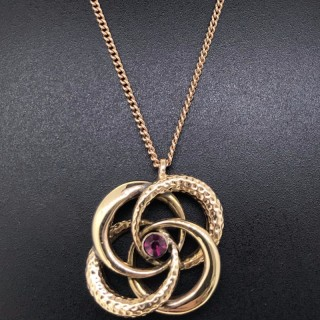 Victorian Rose Gold Pendant