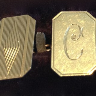 Vintage Gold Cuff Links.