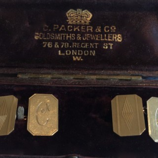 Vintage Gold Cuff Links.