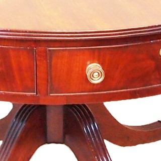 Georgian Mahogany Drum Type Circular Centre Table