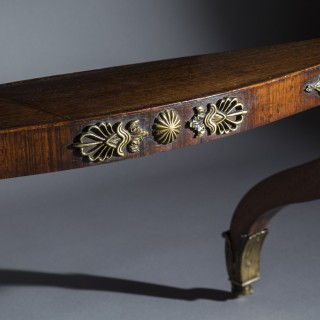 Regency Rosewood Library Table, attributed to George Oakley
