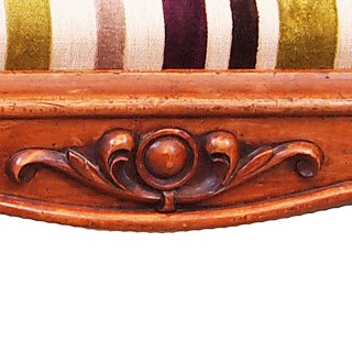 Large 19th Century English Walnut Salon Stool