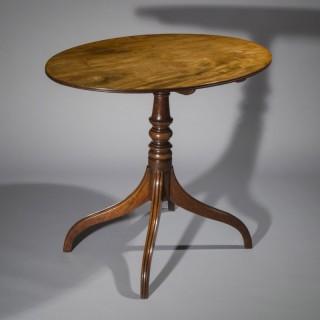 Fine George III Mahogany Oval Table