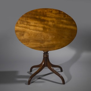 Fine George III Mahogany Oval Table