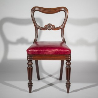 Regency Leather Desk Chair attributed to Gillows