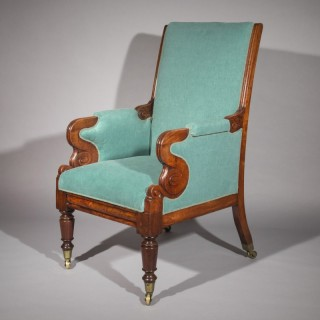 Antique Regency Library Armchair