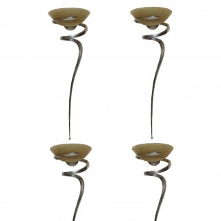 A SET OF FOUR LARGE FRENCH SCONCES