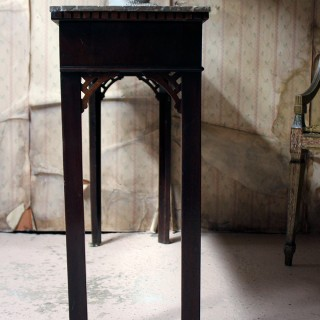 A George III Chippendale Design Mahogany & Marble Side Table c.1780