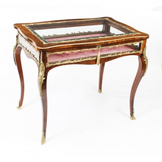 Antique French Ormolu Mounted Bijouterie Display Table 19th Century