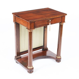 Antique English Empire Console Writing Side Table c.1820 19th Century