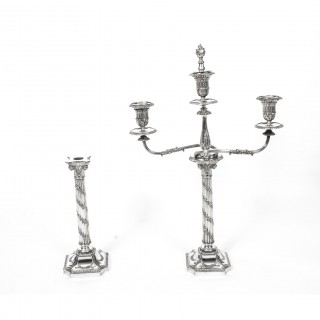 Antique Pair Victorian 3Light Candelabra H Woodward C1880