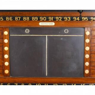 Antique Victorian Thurston Billiard Snooker and Life Pool Scoreboard c.1880