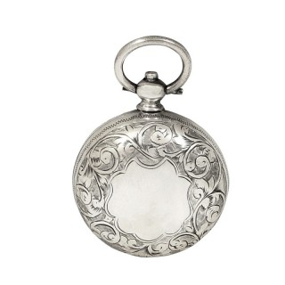 Antique Victorian Sterling Silver Sovereign Case 1895