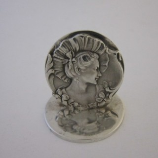 Antique Edwardian Sterling silver menu/place card holder