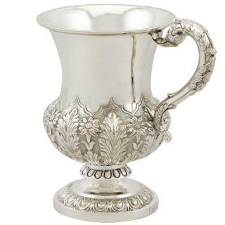 Antique Indian Colonial Silver Mug Circa 1880