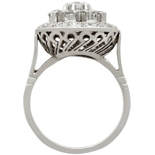 1.66 ct Diamond and Platinum Dress Ring - Vintage Circa 1960