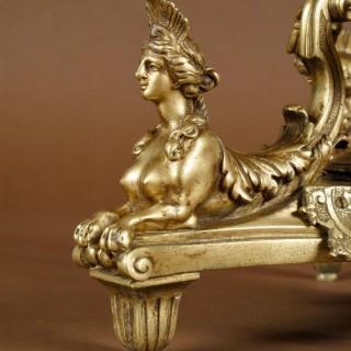 Chiseled Bronze Candelabra After a Model of: André Charles Boullé. 19th Century