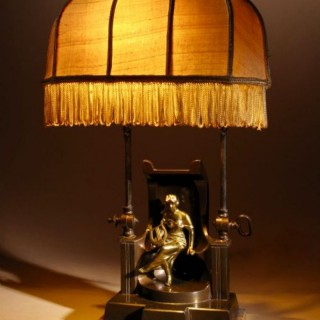A Very Decorative And Rare Original Art Deco Table Lamp.