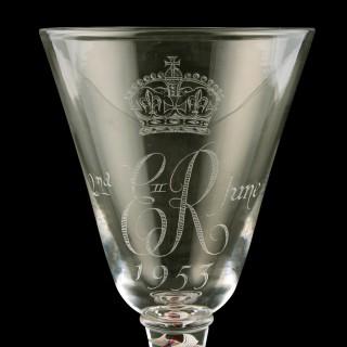 Whitefriars Elizabeth II Coronation Goblet