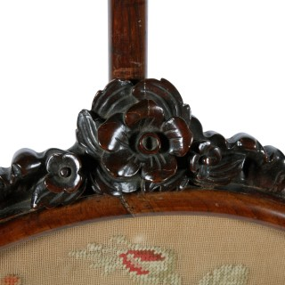 Pair of William IV Rosewood Pole Screens
