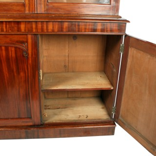 Victorian Mahogany Three Door Bookcase