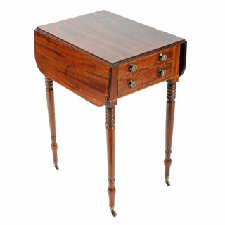 Georgian Drop Leaf Lamp Table
