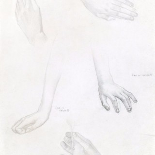 Edward Reginald Frampton - Study of Hands - pencil drawing