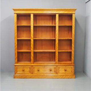 Victorian Satin Birch Open Bookcase